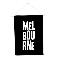 Melbourne handmade wall banner