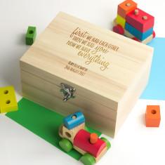 Personalised Family Happens New Baby Keepsake Box