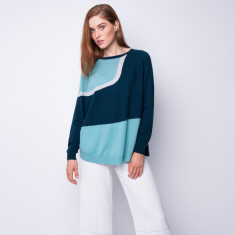 Forest intarsia cashmere pullover