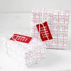 Geek binary gift wrap set