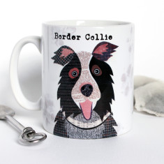 Border Collie dog personalised mug
