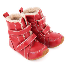 Junior Snug Boots In Red