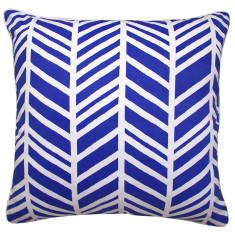 Geo chevron cushion cover in marine