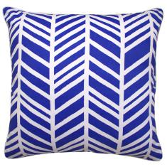 Geo chevron cushion cover in marine