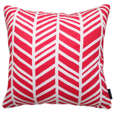 Geo chevron cushion cover in pink