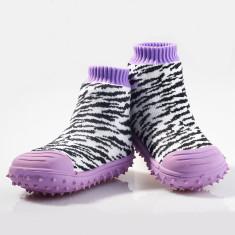 Zebra print non-slip socks
