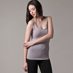 Bamboo camisole singlet in grey