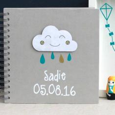 Personalised Baby Cloud Memory Book