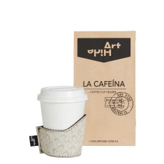 La Cafeina coffee cup holder in zenda