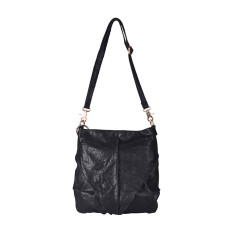 Black Leather Lost In Translation Shoulder Bag