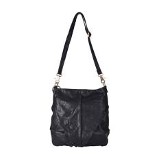 Black Leather Lost In Translation Shoulder Bag