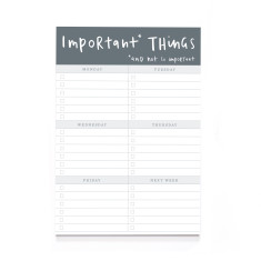 A5 Important Things Notepad