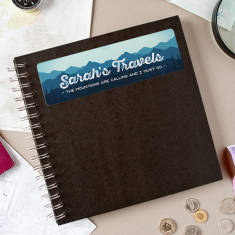 Personalised 'The Mountains Are Calling' Travel Journal