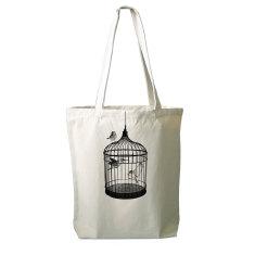 Birdcage tote bag