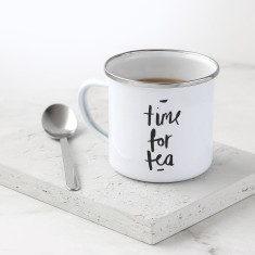 Time For Tea Enamel Mug