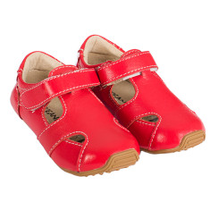 Sunday sandals in red