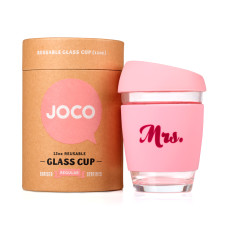 Strawberry Mrs. reusable glass cup (various sizes)