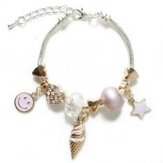 Ice cream charm bracelet