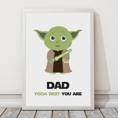 Dad, Yoda Best Print
