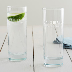 Personalised 'Fill To The Line' Hi Ball Glass