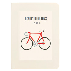 Personalised racing bike notebook