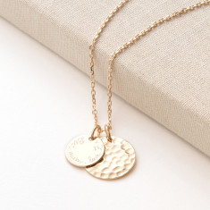 Personalised Large Hammered Necklace