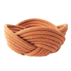 Weave bowl in cinnamon