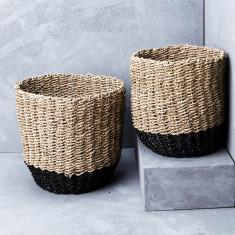 Contrast base seagrass basket