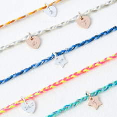 Personalised Braided Initial Bracelet