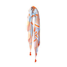 Tassel scarf orange shapes
