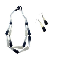 Biba Double Ombre Necklace + Drop Earrings Set (2 Colours Available)