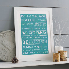 Family Values Personalised Print