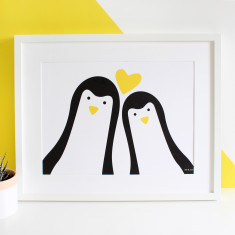Me & you selfie penguin print