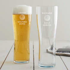 Personalised Golf Pint Glass