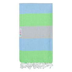 Hammamas Turkish Towel in Bold Guppy/Dove/Sky