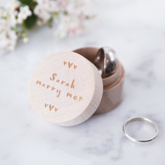 Personalised proposal ring box