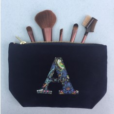 Velvet and Liberty Print Personalised Makeup Bag