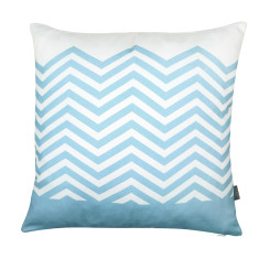 Zig-zag cushion cover in sky