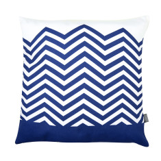 Zig zag cushion cover in navy