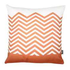 Zig zag cushion cover in orange