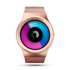 ZIIIRO Celeste watch in rose gold & purple