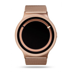 ZIIIRO eclipse metallic rose gold watch