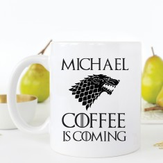 Personalised Coffee is Coming mug