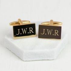 Personalised gold monogram cufflinks