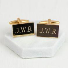 Personalised gold monogram cufflinks
