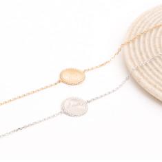 Personalised beaded disc chain bracelet