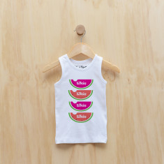 Personalised watermelon singlet