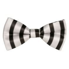 Candy, black & grey bow tie