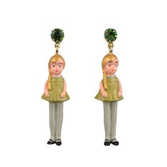 Blonde doll earrings