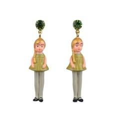 Blonde doll earrings